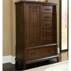 Broyhill Estes Park Sliding Door Chest in Artisan Oak