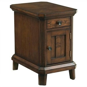 Broyhill Estes Park Chairside End Table in Artisan Oak
