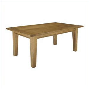 Broyhill Attic Heirlooms Rectangular Leg Dining Table in Natural Oak Stain