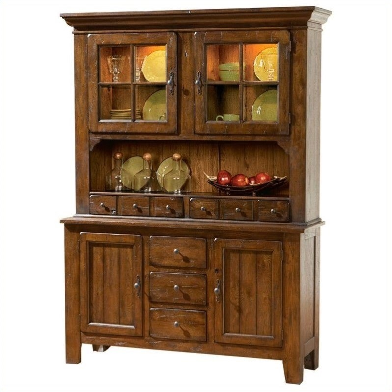 Broyhill broyhill attic heirlooms china base and hutch in attic rustic oak home furniture Home furniture from china