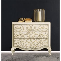 Hooker Furniture Melange Graciela Handpainted 3 Drawer Accent Chest in Cream