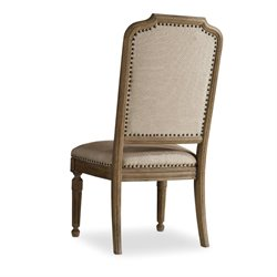 Hooker Corsica Upholstered Side Chair in Light Wood
