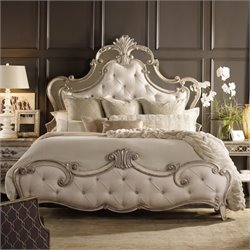 Hooker Sanctuary King Upholstered Bed in Silver
