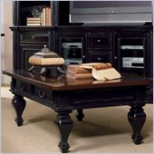 Hooker Furniture New Castle II Wood Top Cocktail Table in Rubbed Black