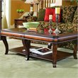 ADD TO YOUR SET: Hooker Furniture Brookhaven Rectangular Cocktail Table in Clear Cherry