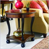 Hooker Furniture Prescott Round Wood Top Lamp Table