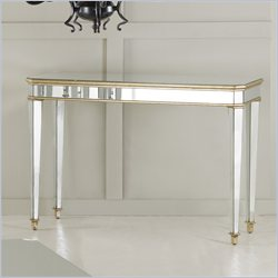 Hooker Furniture Mirrored Console Table with Gold Painted Trim Finish Best Price