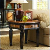 Hooker Furniture North Hampton Wood Top Lamp Table in Black Finish