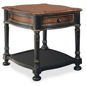 Hooker Furniture Preston Ridge End Table in Black Rub-Through