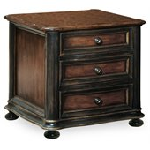Hooker Furniture Preston Ridge Wood Top 3 Drawer Chairside Chest