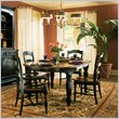 ADD TO YOUR SET: Hooker Furniture Indigo Creek Oval Dining Table in Rub-Through Black
