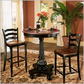 Hooker Furniture Indigo Creek Pub Table in Rub-Through Black