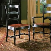 Hooker Furniture Indigo Creek Dining Side Chair in Rub-Through Black