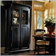 ADD TO YOUR SET: Hooker Furniture Indigo Creek Wine Cabinet in Rub-Through Black