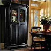 Hooker Furniture Indigo Creek Wine Cabinet in Rub-Through Black