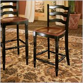 Hooker Furniture Indigo Creek Counter Stool in Rub-Through Black