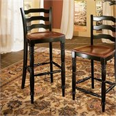 Hooker Furniture Indigo Creek Bar Stool in Rub-Through Black
