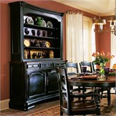 Hooker Furniture Indigo Creek Buffet in Rub-Through Black