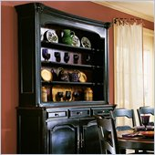 Hooker Furniture Indigo Creek Hutch in Rub-Through Black