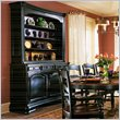 ADD TO YOUR SET: Hooker Furniture Indigo Creek Buffet in Rub-Through Black (Smaller Version)