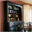 ADD TO YOUR SET: Hooker Furniture Indigo Creek Hutch in Rub-Through Black (Smaller Version)