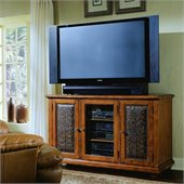 Hooker Furniture Telluride 60 Entertainment Console w/ Leather Doors
