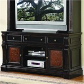 Hooker Furniture Telluride 71 Entertainment Console w/ Leather Panels