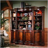 Hooker Furniture Seven Seas Shaped Bookcase in Cherry Finish