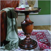 Hooker Furniture Seven Seas Round Wood Top Pedestal Accent Table