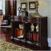 Hooker Furniture Seven Seas Hand Painted Double Bookcase in Brown