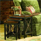 Hooker Furniture Seven Seas Nest of Three Tables w/ Medallion Motif