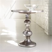 Hooker Furniture Melange Round Kenmar Pedestal Table in Faux Zinc