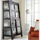Hooker Furniture Melange Angle Design Curio in Black Finish
