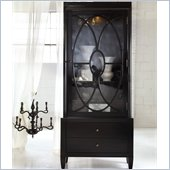 Hooker Furniture Melange Gala Display Cabinet in Black Finish