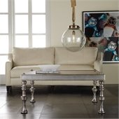 Hooker Furniture Melange Sebastian Cocktail Table in Faux Zinc Finish
