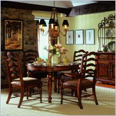 Hooker Furniture Waverly Place 48 Round Leg Dining Table in Cherry