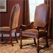 Hooker Furniture Waverly Place Upholstered Arm Chair in Cherry 
