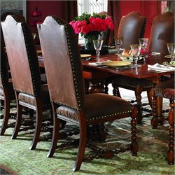 Hooker Furniture Waverly Place Upholstered  Dining Chair in Cherry