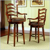 Hooker Furniture Waverly Place Cherry Ladderback Swivel Counter Stool