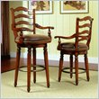ADD TO YOUR SET: Hooker Furniture Waverly Place Ladderback Swivel Bar Stool in Cherry