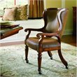 ADD TO YOUR SET: Hooker Furniture Waverly Place Tall Back Cherry Castered Game Chair