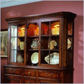 Hooker Furniture Waverly Place Glass Door Hutch in Cherry