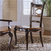 Hooker Furniture Preston Ridge Oval Back Side Chair in Cherry/Mahogany