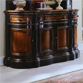 Hooker Furniture Preston Ridge Shaped Buffet in Cherry/Mahogany Finish