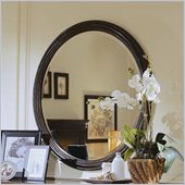 Hooker Furniture Preston Ridge Round Mirror  in Cherry/Mahogany Finish