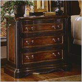 Hooker Furniture Preston Ridge 3 Drawer Nightstand  in Cherry/Mahogany