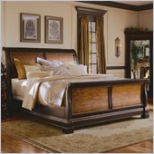 Hooker Furniture Preston Ridge Sleigh Bed in Cherry and Mahogany