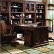ADD TO YOUR SET: Hooker Furniture Brookhaven Peninsula Desk in Cherry Finish