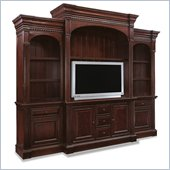Hooker Furniture New Castle II 104 Home Theater Group in Warm Brown