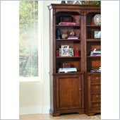 Hooker Furniture Brookhaven Left Bookcase in Clear Cherry